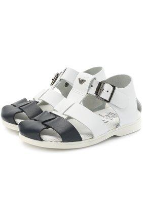 Кожаные сандалии на ремешке   Фото №1