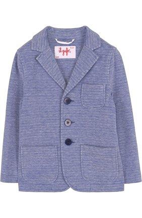 Однобортный пиджак из хлопка | Фото №1