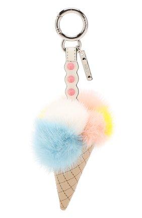 Кожаная подвеска Ice Cream  с отделкой из меха норки | Фото №1