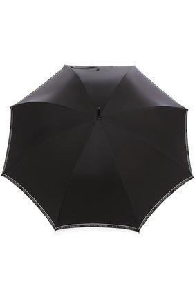 Мужской зонт-трость с фигурной ручкой ALEXANDER MCQUEEN черно-белого цвета, арт. 500677/4A40Q | Фото 1