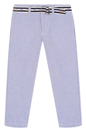 Хлопковые брюки с контрастным ремнем | Фото №1