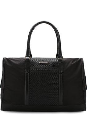 Мужская текстильная дорожная сумка Z ZEGNA черного цвета, арт. C1345P-DPT | Фото 1