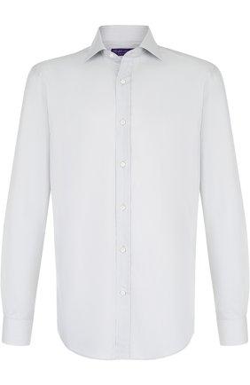 Мужская сорочка из смеси хлопка и шелка RALPH LAUREN светло-зеленого цвета, арт. 791695320 | Фото 1