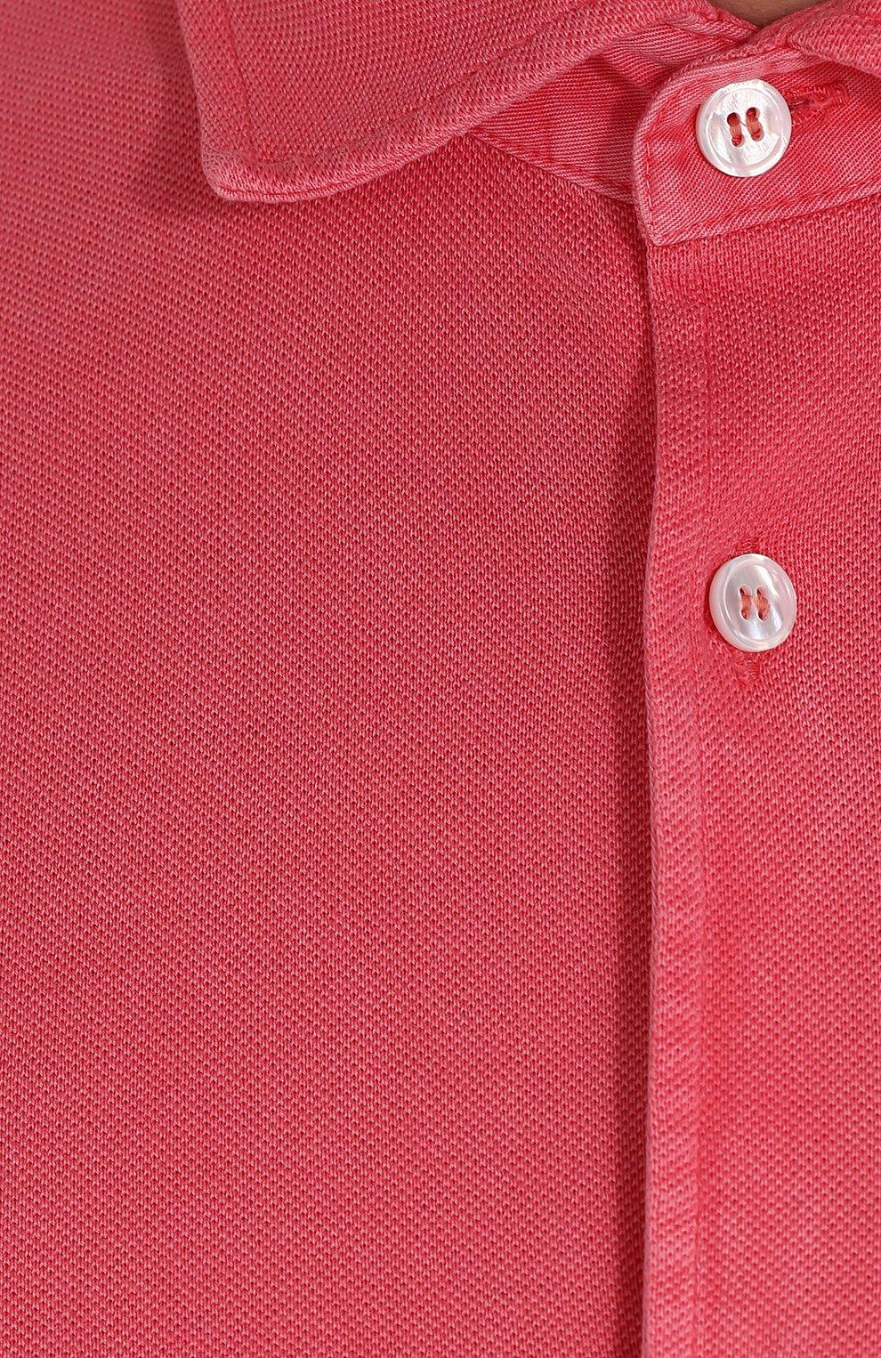 Хлопковая рубашка с воротником кент Fedeli светло-розовая | Фото №5