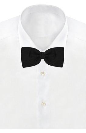 Мужской комплект из шелкового галстука-бабочки и камербанда ERMENEGILDO ZEGNA черного цвета, арт. Z3D05/0SA   Фото 2