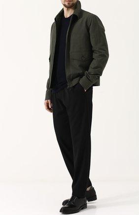 Куртка из смеси льна и хлопка на молнии | Фото №2