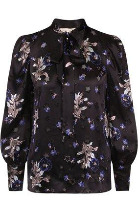 Блуза из смеси вискозы и шелка с принтом | Фото №1