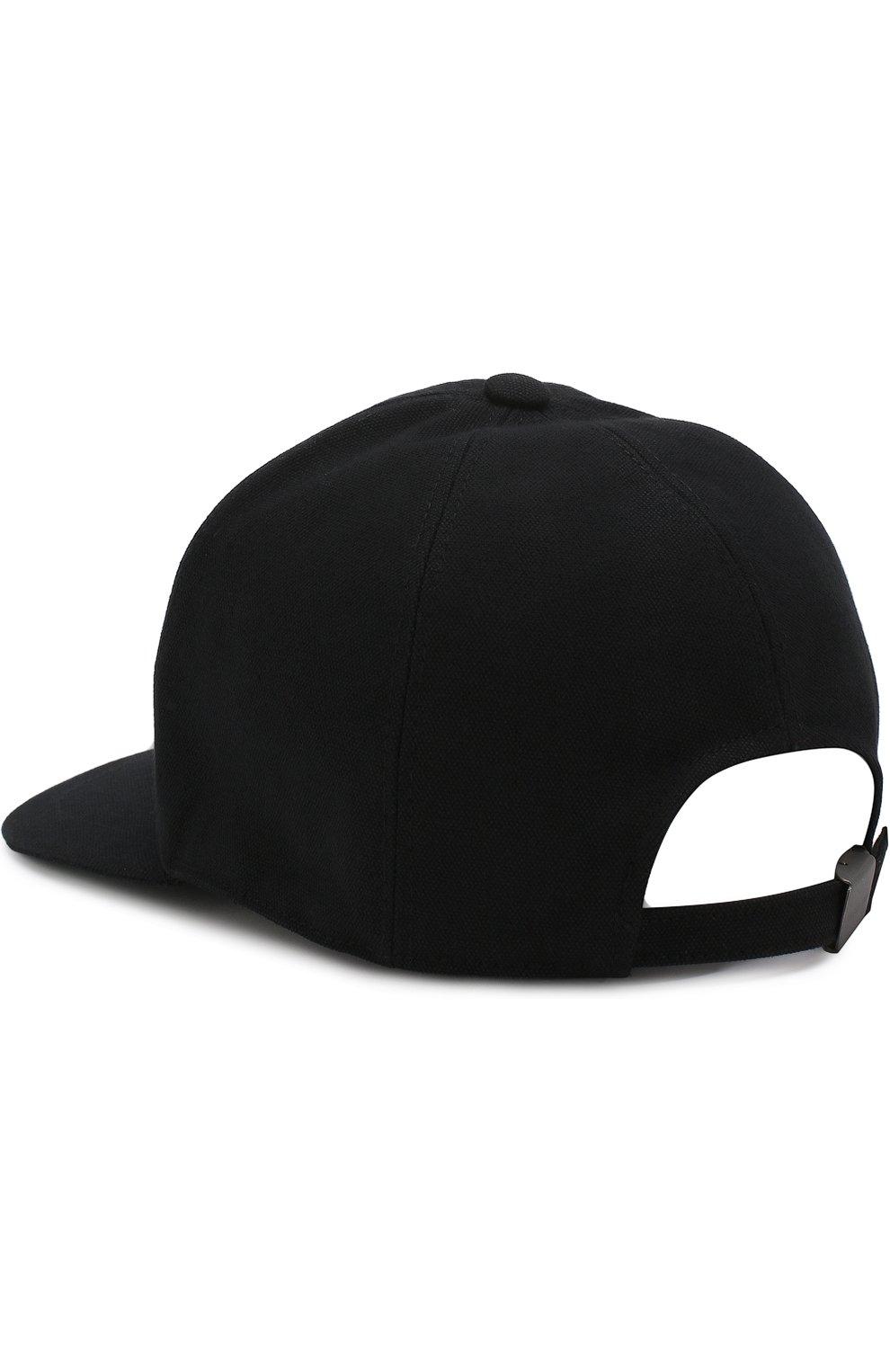 Мужской хлопковая бейсболка с логотипом бренда GIORGIO ARMANI черного цвета, арт. 747324/8P510 | Фото 3