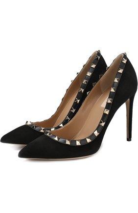 Замшевые туфли Valentino Garavani Rockstud на шпильке | Фото №1