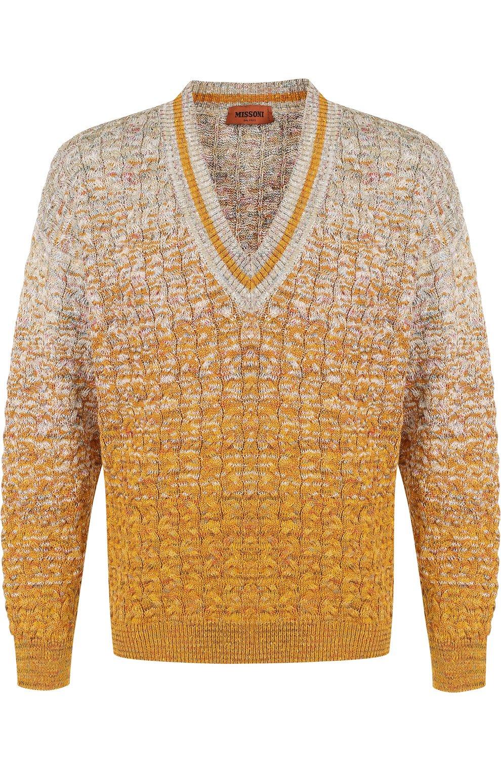 Хлопковый пуловер крупной вязки | Фото №1