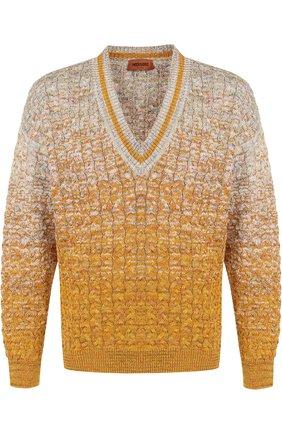 Хлопковый пуловер крупной вязки Missoni разноцветный | Фото №1