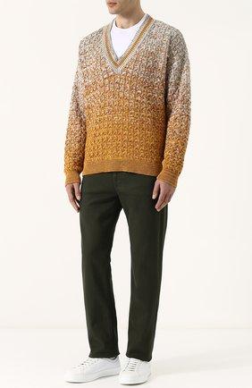 Хлопковый пуловер крупной вязки Missoni разноцветный | Фото №2