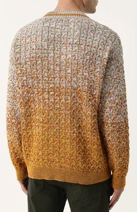 Хлопковый пуловер крупной вязки Missoni разноцветный | Фото №4