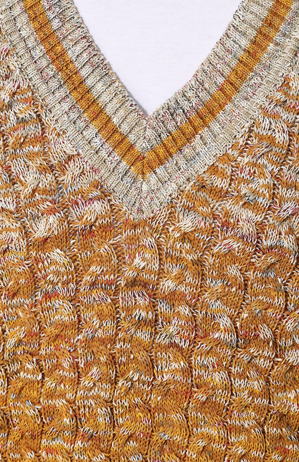 Хлопковый пуловер крупной вязки Missoni разноцветный | Фото №5