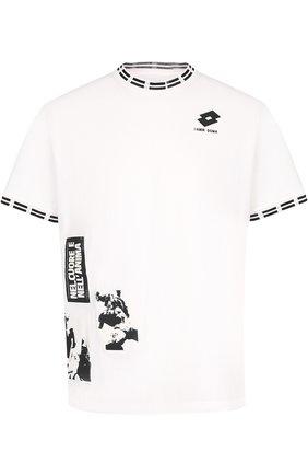 Хлопковая футболка с принтом Damir Doma x Lotto | Фото №1