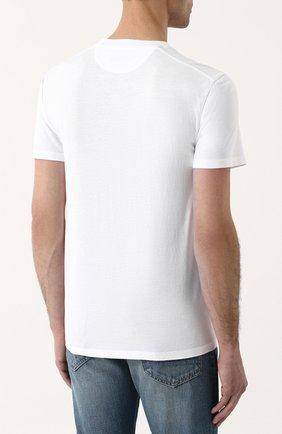 Мужская однотонная футболка с круглым вырезом TOM FORD белого цвета, арт. BP229/TFJ911 | Фото 4