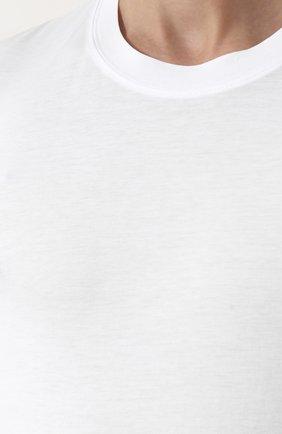 Мужская однотонная футболка с круглым вырезом TOM FORD белого цвета, арт. BP229/TFJ911 | Фото 5