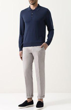 Мужское шерстяное поло  BRIONI синего цвета, арт. UMR30S/PZK03 | Фото 2