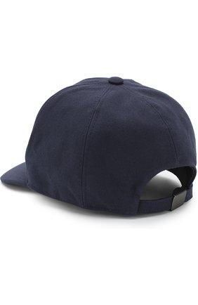 Мужской хлопковая бейсболка с логотипом бренда GIORGIO ARMANI темно-синего цвета, арт. 747324/8P510 | Фото 2