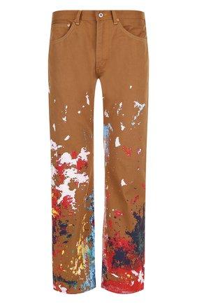Хлопковые брюки прямого кроя с принтом Junya Watanabe x Levi's | Фото №1