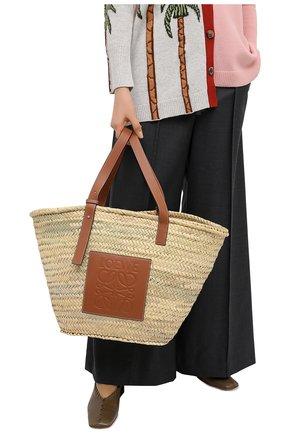 Женская сумка basket large LOEWE бежевого цвета, арт. 327.02.S81 | Фото 2