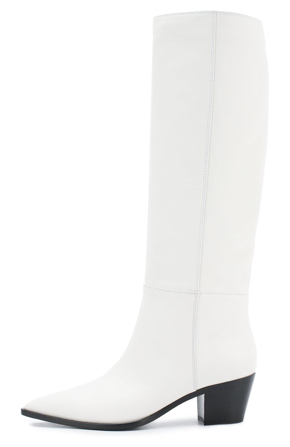 Кожаные сапоги Daenerys Gianvito Rossi белые | Фото №3