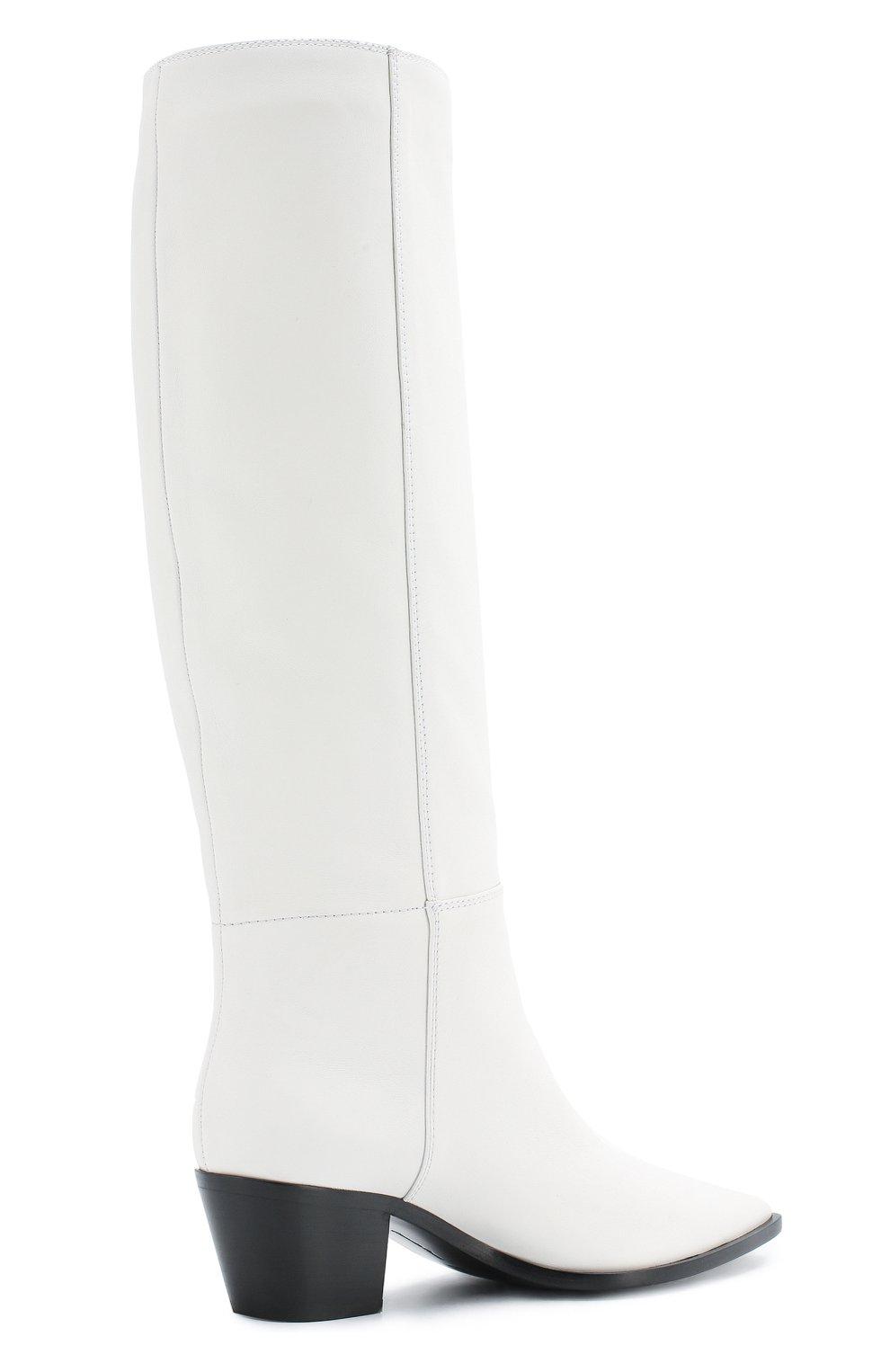 Кожаные сапоги Daenerys Gianvito Rossi белые | Фото №4