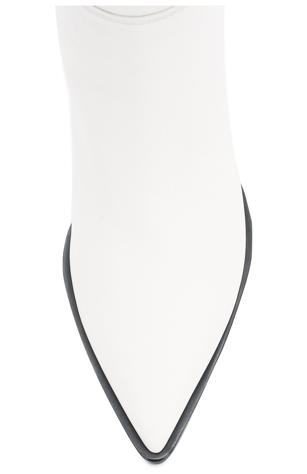 Кожаные сапоги Daenerys Gianvito Rossi белые | Фото №5