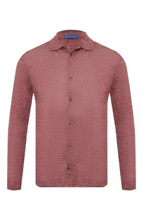Мужская льняная рубашка ANDREA CAMPAGNA бордового цвета, арт. 57103/24806 | Фото 1