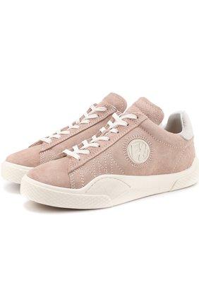 Замшевые кеды Wave на шнуровке Eytys розовые   Фото №1