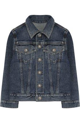 Джинсовая куртка с принтом на спине | Фото №1