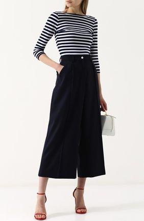 Укороченные шерстяные брюки Natasha Zinko синие   Фото №1