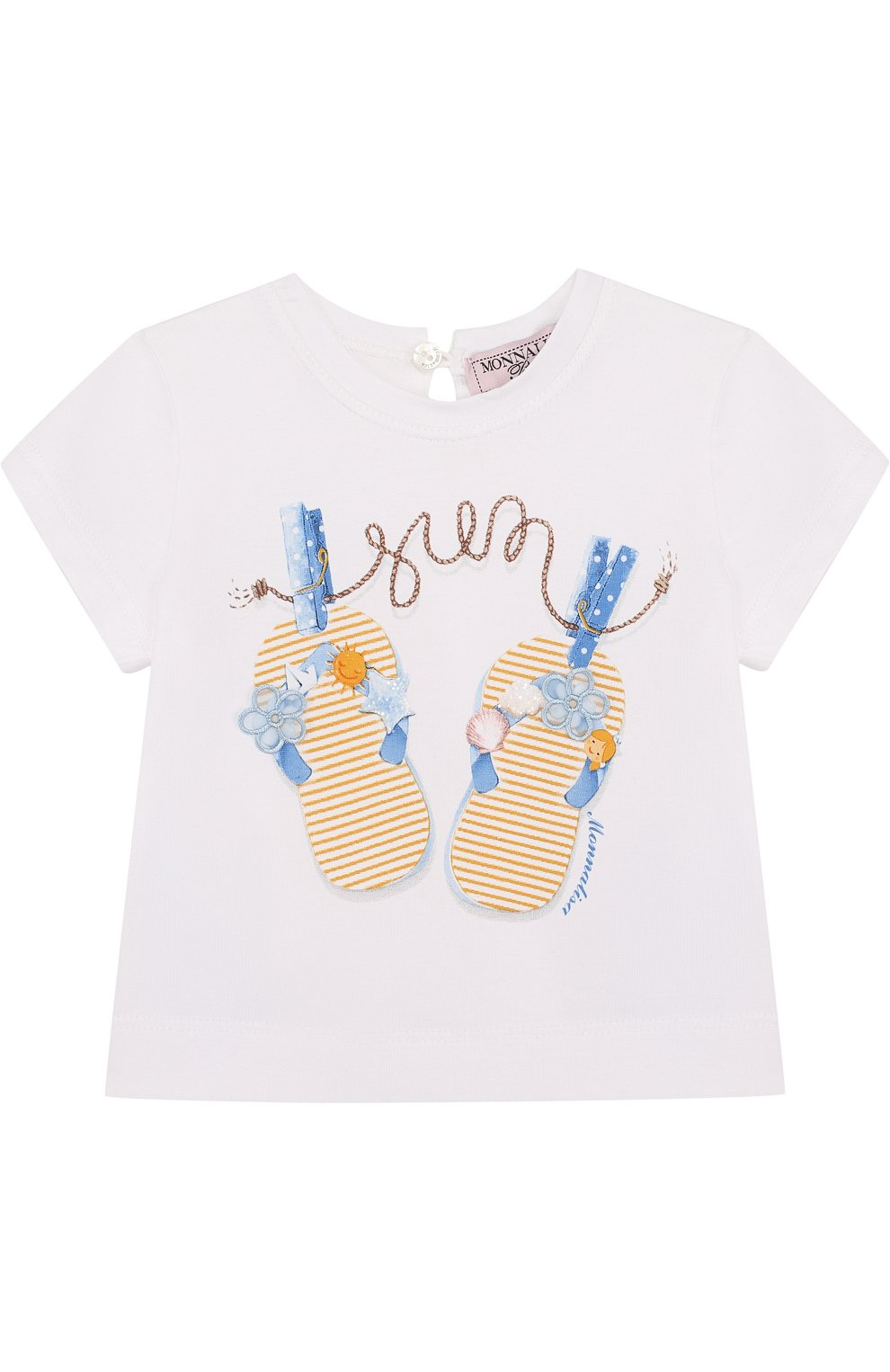Детский футболка с принтом MONNALISA белого цвета, арт. 311605SM | Фото 1