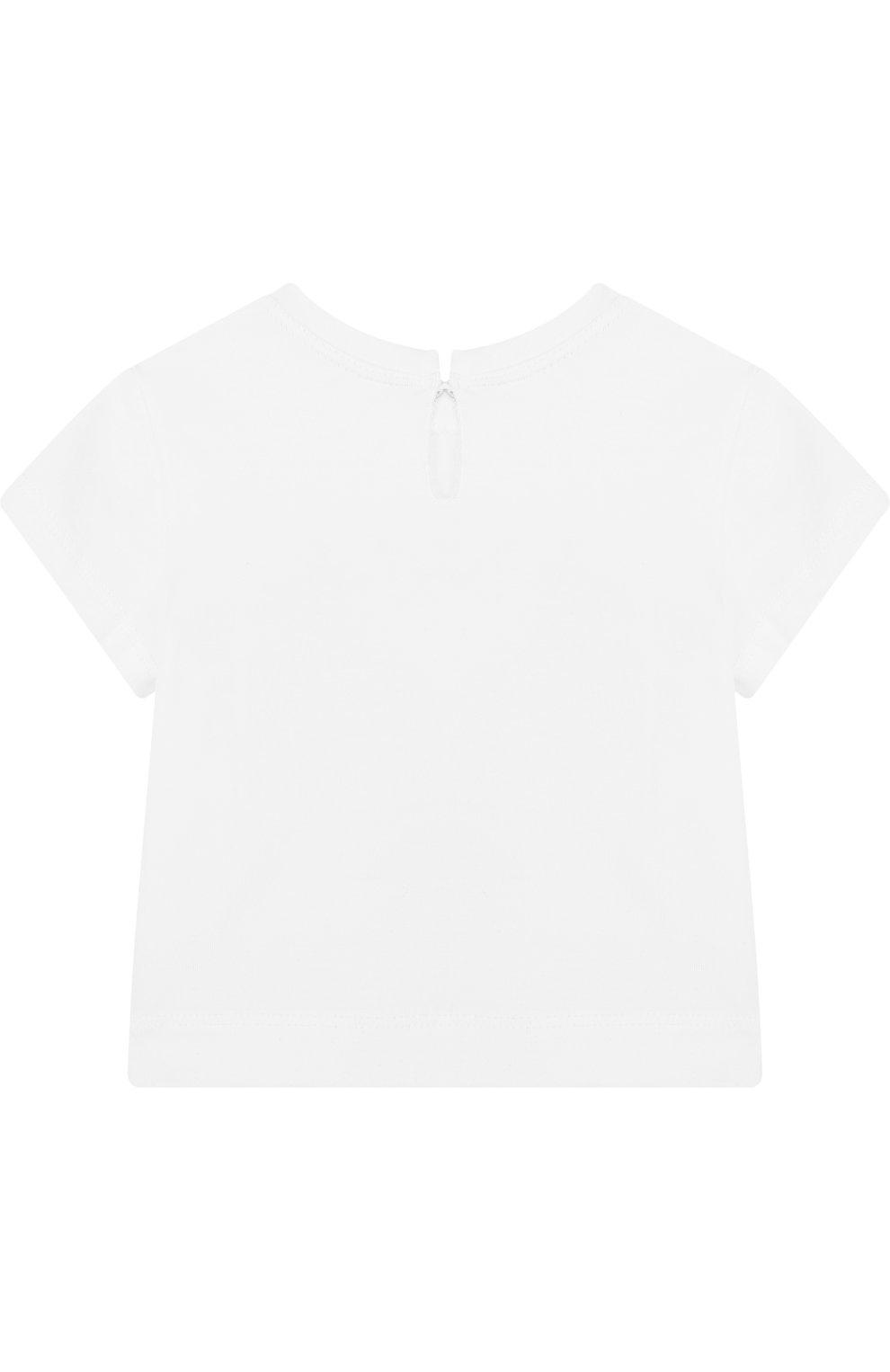 Детский футболка с принтом MONNALISA розового цвета, арт. 311605SM | Фото 2