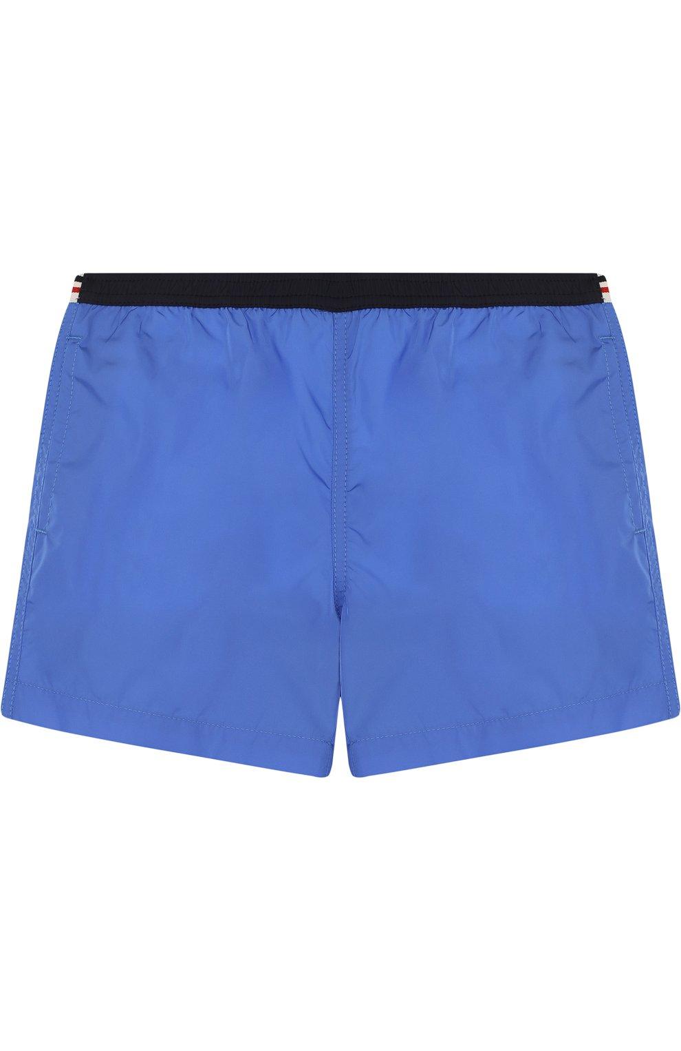 Детского плавки-шорты с логотипом бренда MONCLER ENFANT синего цвета, арт. D1-951-00733-05-53326 | Фото 1
