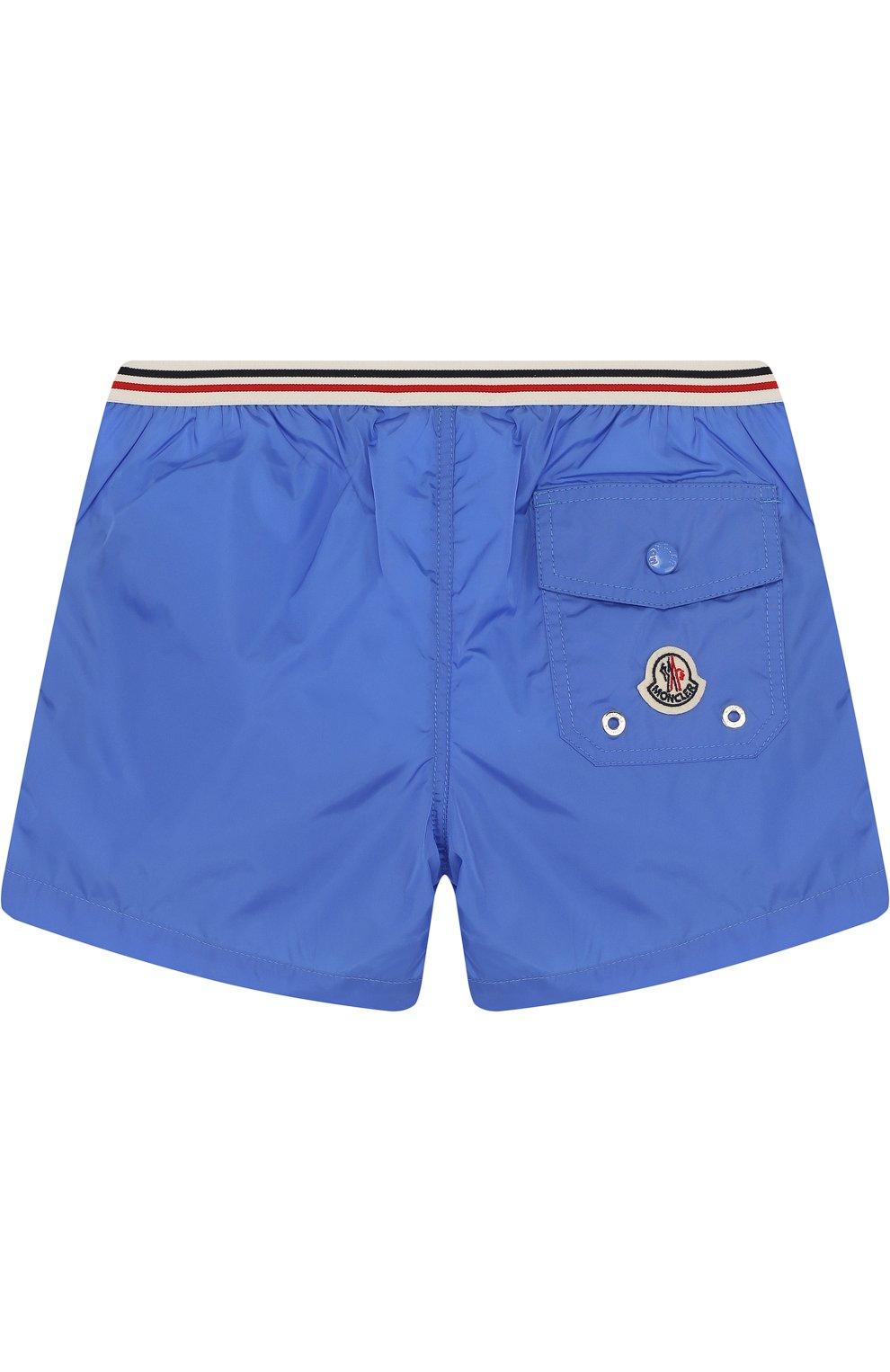 Детского плавки-шорты с логотипом бренда MONCLER ENFANT синего цвета, арт. D1-951-00733-05-53326 | Фото 2