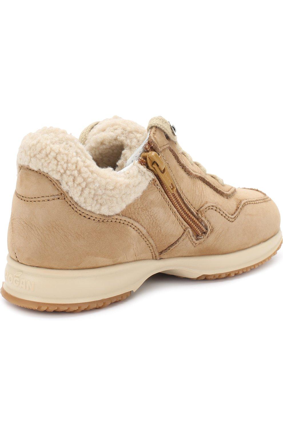 Утепленные замшевые кроссовки | Фото №3