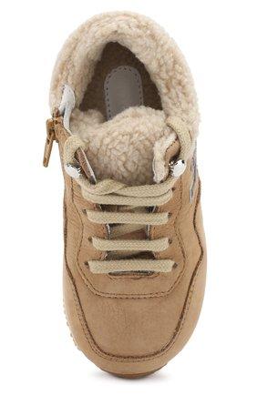Утепленные замшевые кроссовки | Фото №4