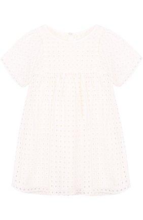 Хлопковое мини-платье с перфорацией | Фото №1