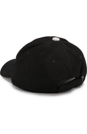 Бейсболка с логотипом бренда Karl Lagerfeld Kids черного цвета | Фото №1