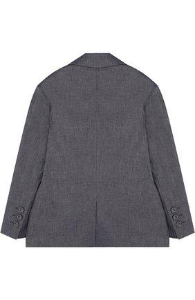 Однобортный пиджак из смеси хлопка и льна | Фото №2