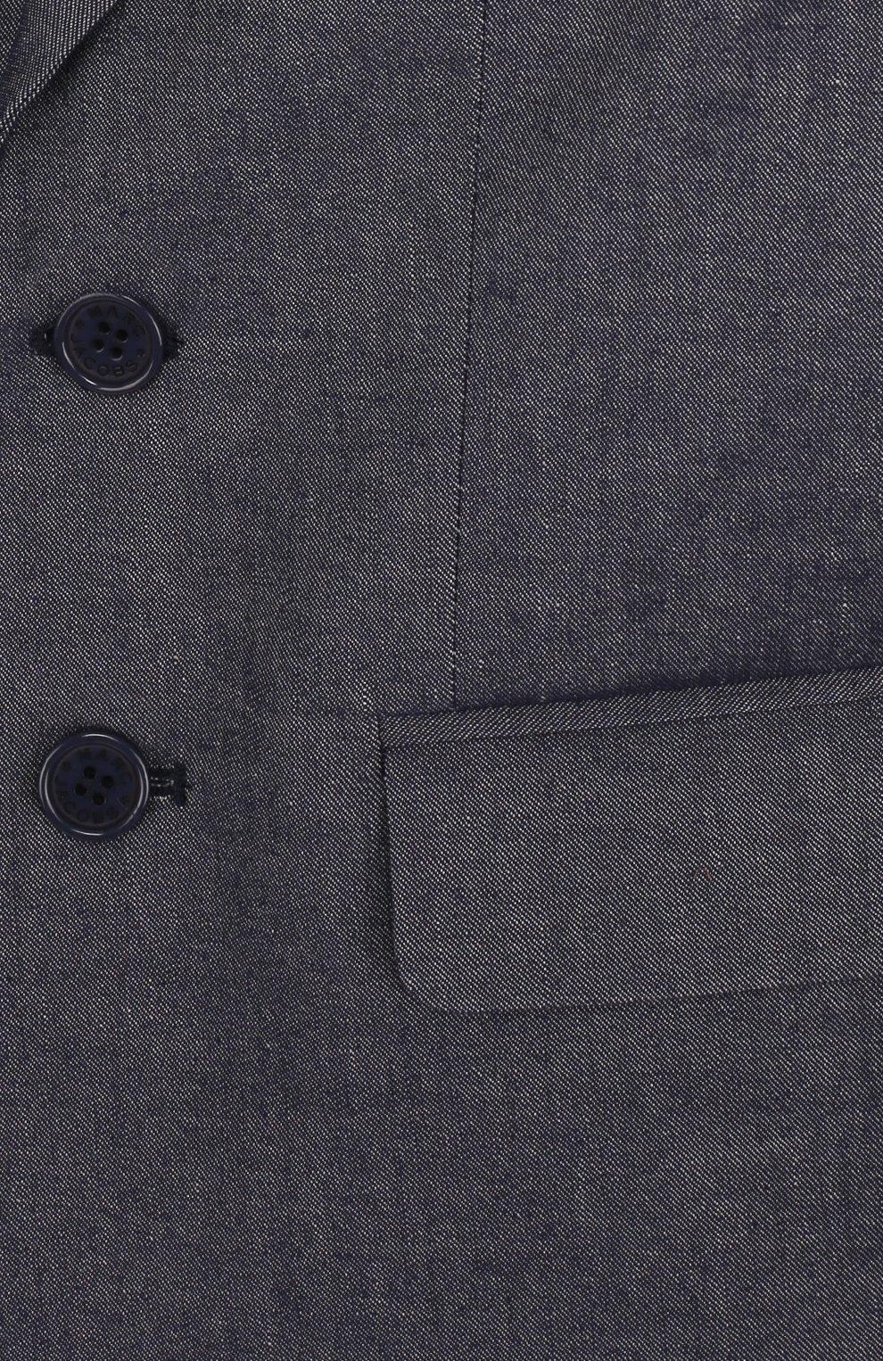 Однобортный пиджак из смеси хлопка и льна | Фото №3