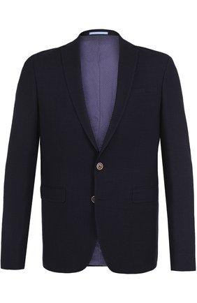 Однотонный шерстяной пиджак | Фото №1
