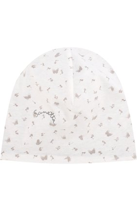 Хлопковая шапка с принтом | Фото №1