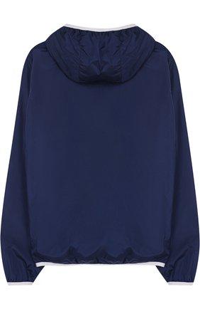 Ветровка с капюшоном Fay Junior синего цвета | Фото №1