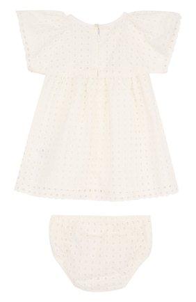 Женский хлопковый комплект из платья и трусов CHLOÉ белого цвета, арт. C92464 | Фото 2