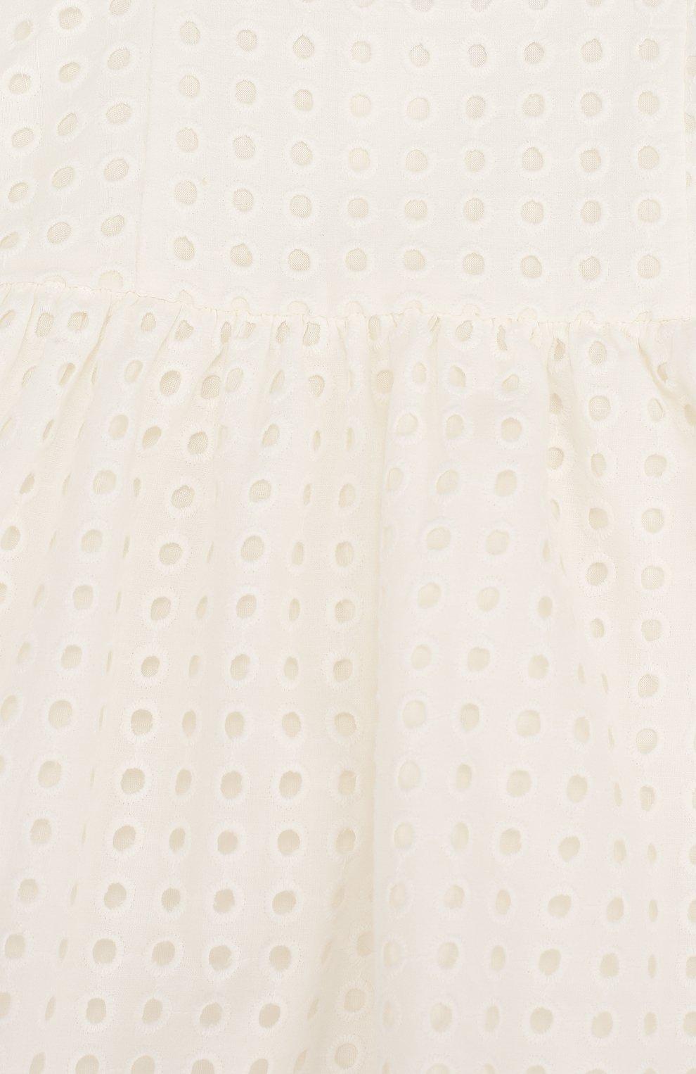 Женский хлопковый комплект из платья и трусов CHLOÉ белого цвета, арт. C92464 | Фото 3