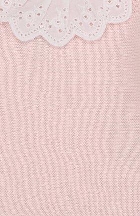 Детский хлопковый пуловер с кружевной отделкой TARTINE ET CHOCOLAT светло-розового цвета, арт. TL18001   Фото 3