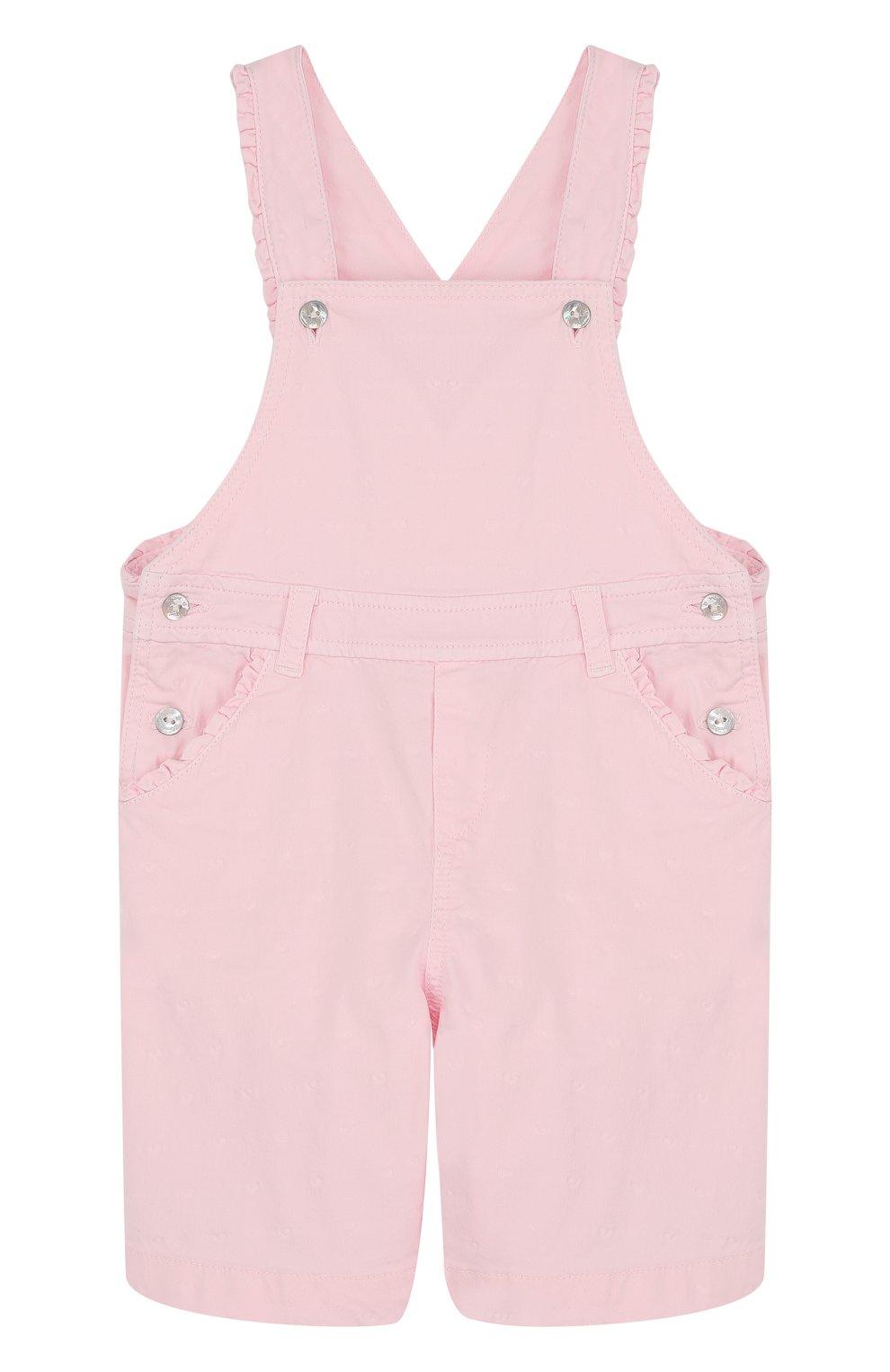 Детский хлопковый комбинезон TARTINE ET CHOCOLAT розового цвета, арт. TL21071/2A-3A | Фото 1