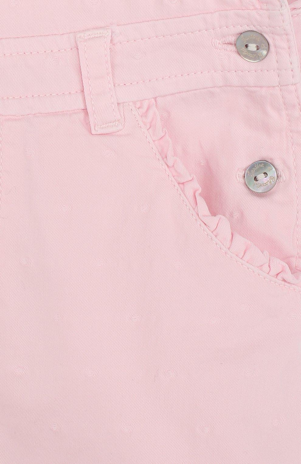 Детский хлопковый комбинезон TARTINE ET CHOCOLAT розового цвета, арт. TL21071/2A-3A | Фото 3